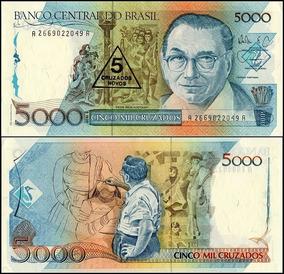 5000 Cinco Mil Cruzados - 1989 - Cédula Rara - Cruzado Novo