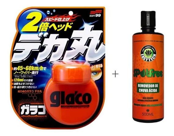 Kit Impermeabilizante Glaco 120ml + Removedor De Chuva Ácida