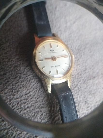Relógio Technos Feminino Plaque De Ouro Jeunesse 3109 Raro