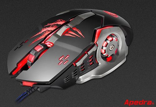 Mouse Usb Gamer Led Rgb Apedra A8