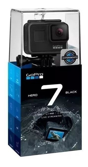 Câmera Gopro Hero 7 Black 12mp 4k Wi-fi Comando Voz C/ Nota