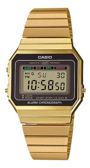 Relogio Casio A700wg-9 Super Slim Dourado Vintage Retro 12x