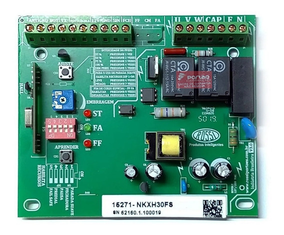 Kit Placa Central Kxh30fs 2 Controles 2 Imãs Hall Rossi