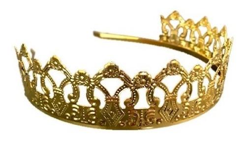 Corona Princesa Dorada Metal
