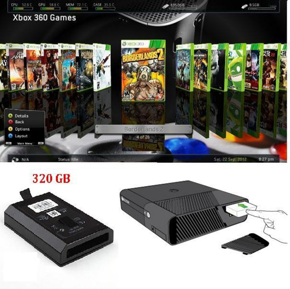 Hd Interno 320 Gb Xbox 360 Slim/ss Emul+dlc +