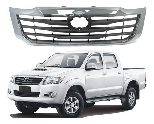 Máscara Cromada Toyota Hilux 2012-2015 Sin Logo