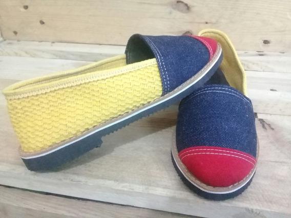 Zapatos Calzado Tricolor Bandera Venezuela Alpargata