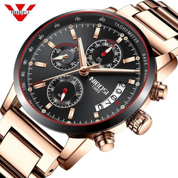 Relógio Masculino Nibosi 2327 Original 30 Metros