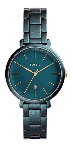 Relógio Fossil Feminino Jacqueline Verde Es4409/1vn