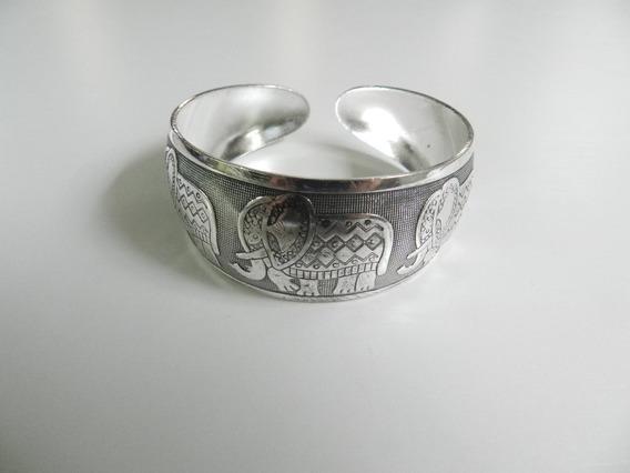 Pulseira/bracelete Boho Prata Elefante