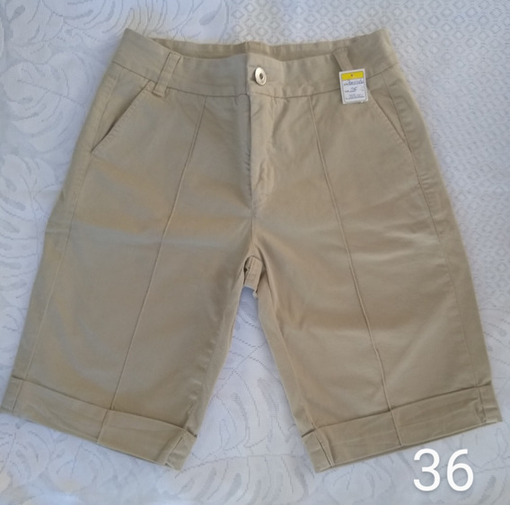 Kit 3 Bermudas Jeans E Sarja Feminina Cintura Alta