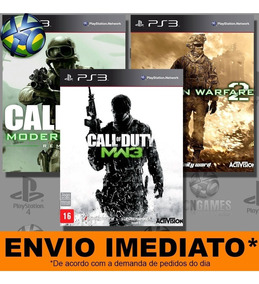Jogo Ps3 Call Of Duty Modern Warfare Psn Play3 Combo 3 Jogos