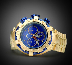 Relógio Masculino Orizom Original Dourado + Caixa + Garantia