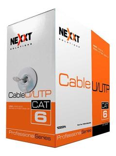 Rollo Cable Utp Nexxt Solutions, 305m Rj-45, Gray, Cat 6 Núm