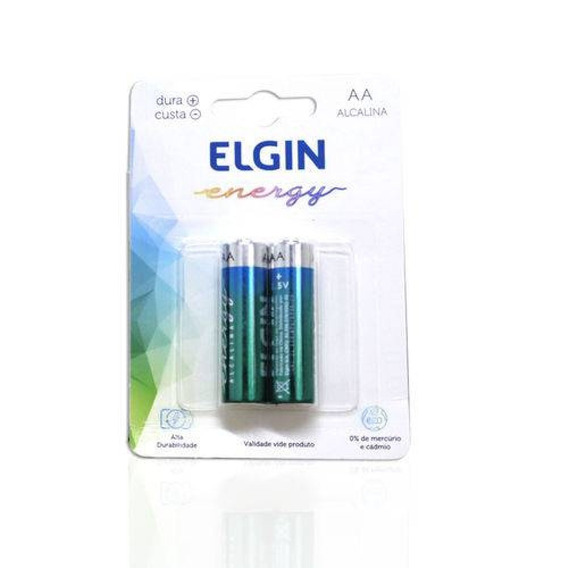 Pilha Alcalina Aaa Elgin 1.5v Blister C2