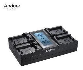 Carregador Quadruplo 4 Way Digital Battery Charger - Andoer