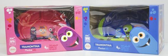 Set De Vajilla Infantil 4 Piezas Tramontina Monster Kids