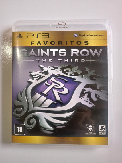 Jogo Saints Row The Third Ps3 Playstation 3 Mídia Física