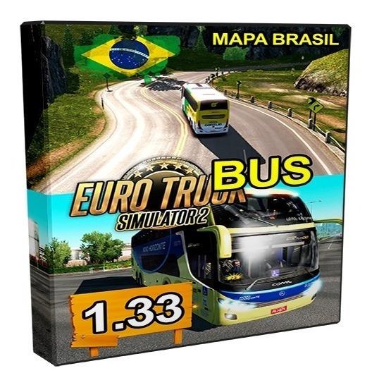 Euro Truck Simulator 2 - Onibus E Mapa Brasil - Pc Dvd-rom