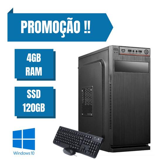 Pc Montado Dual Core 4gb Ram Ssd 120gb Windows 10 Nova
