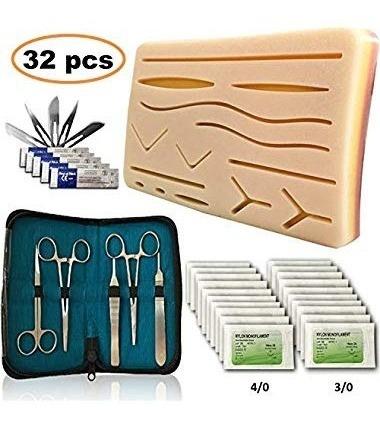 Juego De 32 Piezas De Almohadillas De Silicona Para Sutura