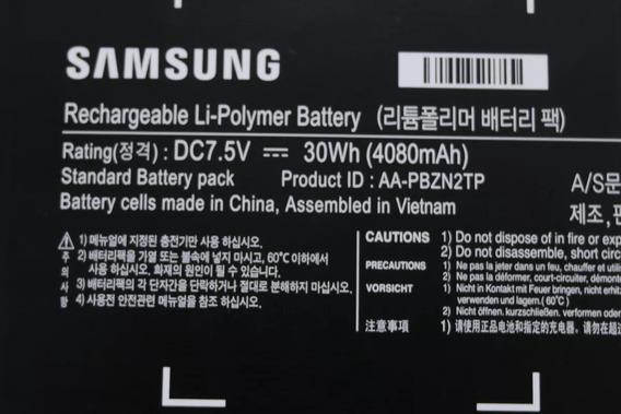 Bateria Chromebook Samsung (xe303c12-ad1br) Original Usado