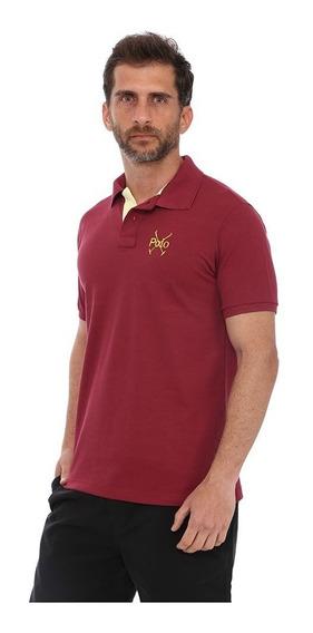 Camisa Polo England Polo Club Slim Vinho