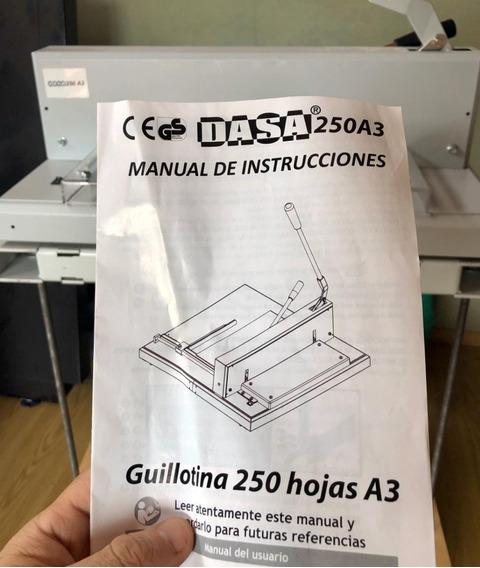 Guillotina Palanca - Marca Dasa A3 Hasta 250 Hojas - C/mesa