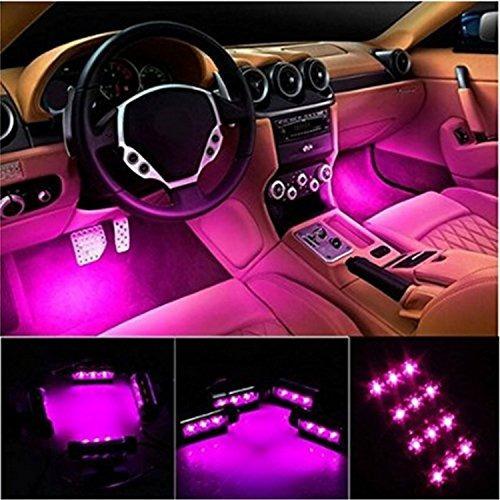 Luces Led De Interior De Carro 4 Tiras De 36 Led 12 V Cc Kit