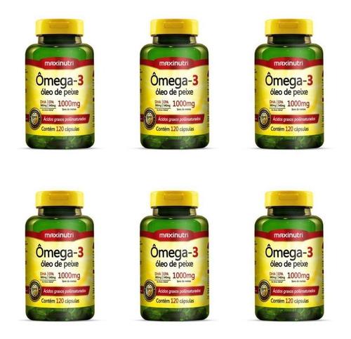 Imagem 1 de 1 de Maxinutri Omega 3 1g C/120 (kit C/06)