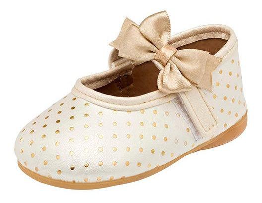 Zapato Casual Faby 503 Color Beige Niña Bebe Sc.
