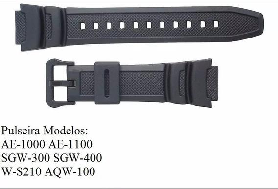Pulseira P/ Casio Ae-1000 Ae-1100 Sgw-300 Sgw-400