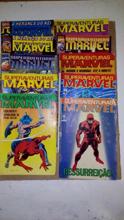 Lote Com 10 Hqs Superaventuras Marvel Dec. 80/90/2000 Abril