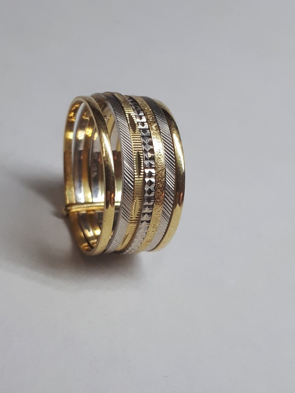 Anel 7 Elos Ouro 18k