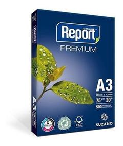 Papel Sulfite Report Premium 75g/m² - Caixa Com 2 Resmas- A3
