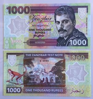 Freddie Mercury Billete Colección Ed. Ltda 1000 Rupias, 2019