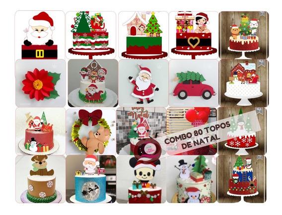 Combo 80 Arquivos Topo De Bolo Natal