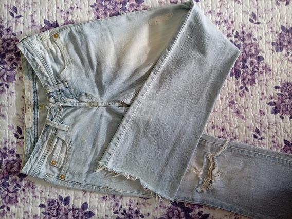 Calça Jeans M.officer Claro Desfiado Tamanho 34