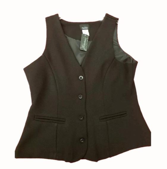 Chaleco De Vestir Negro Para Uniforme O Trabajo Marca Glamur