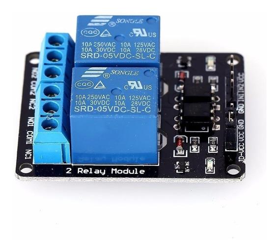 Modulo Relay Rele De 2 Canales 5v 10a Arduino Pic Avr