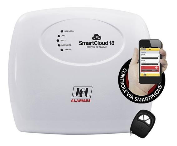 Kit Alarme Jfl Sem Fio - Smart Cloud 18 Com 8 Sensores