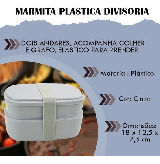 Kit C/10 Marmita Plasticadivisoria Marmiteira Alimento