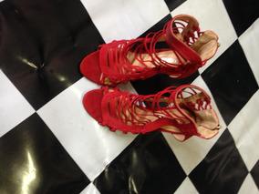 Sandália Vermelha Em Tirinhas Schutz