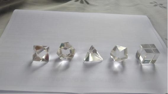 Jogo De Formas Geométricas Platônicos Solidos Cristal