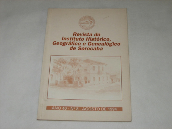 Rev. Instituto Histórico, Geográfico E Genealógico Sorocaba