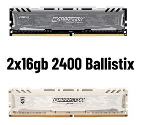 32gb Ddr4 2400 Cl16 Crucial Ballistix