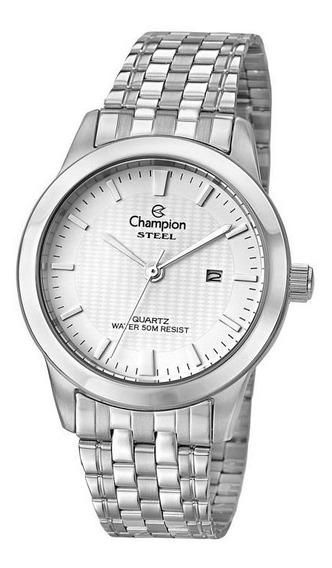 Relógio Champion Masculino Ref: Ca21302q Social Prateado