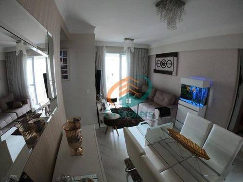 Apartamento Com 2 Dormitórios À Venda, 52 M² Por R$ 320.000 - Ponte Grande - Guarulhos/sp - Ap3736