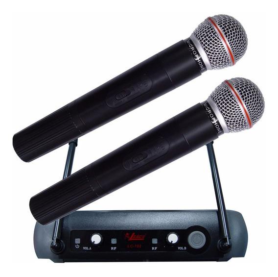 Microfone Sem Fio Leacs Lc 102 Vhf - Maxcomp Musical