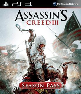 Assassins Creed 3 + Season Pass Ps3 Digital Gcp